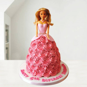 Fashionable Barbie Doll Cake