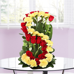 Alphabet Flower Arrangement Personalised