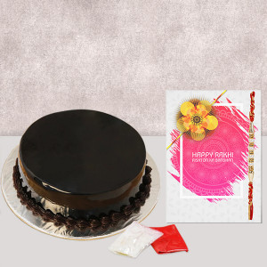Truffle Cake with Rakhi