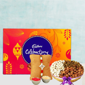 Almonds And Cadbury With Rakhi
