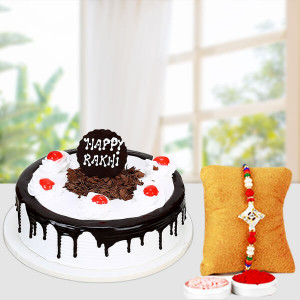 Black Forest Cake with Fancy Rakhi