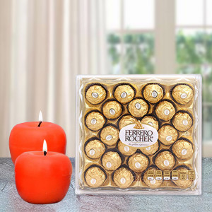 Candle with Rocher