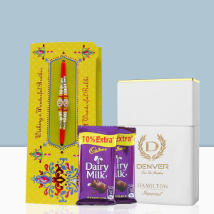 Rakhi With Denver Perfume & Dairy Milk