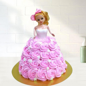 Cutest Barbie Doll Cake