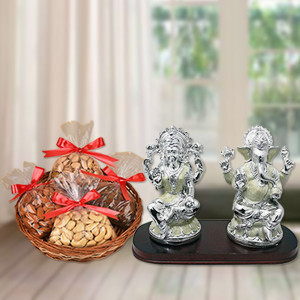 Dry Fruits with Laxmi Ganesh Idol