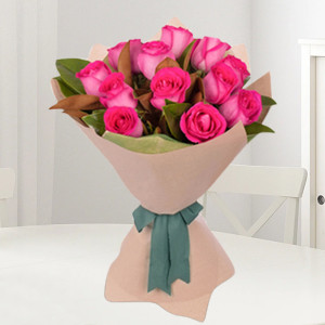 Graceful Pink Roses Bouquet