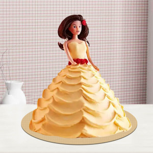 Creamy Barbie Doll Cake