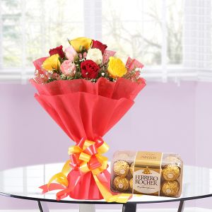 Mix Roses and Rocher