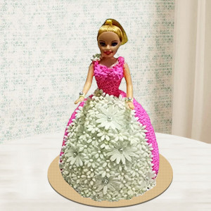 Lovely Barbie Doll Cake