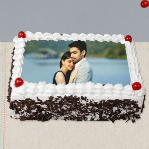 Cripsy Black Forest Photo Cake -- 1 Kg