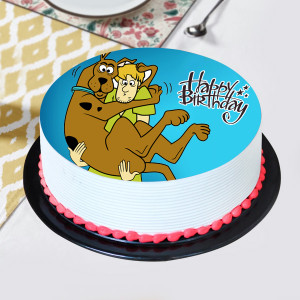 Lovely scooby & Shaggy Pineapple Photo Cake- 1 kg