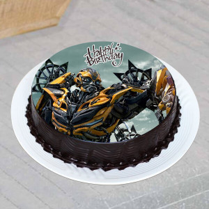 Chocolate Transformer Photo Cake- 1 Kg