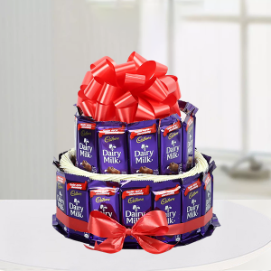 Two Layer Dairy Milk Arrangement