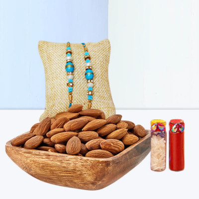 Almonds With Rakhi Combo
