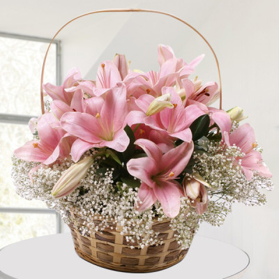 Basket of Pink Lily