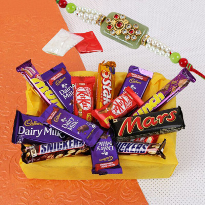 Chocolate Hamper With Rakhi