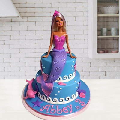 Fishy Barbie Doll Cake