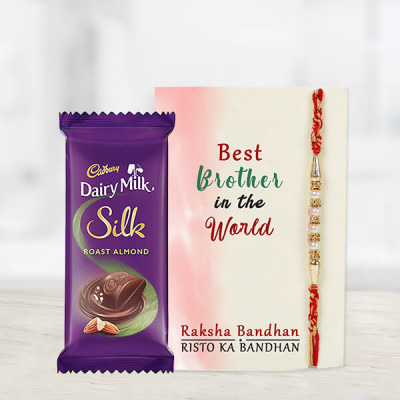 Dairy Milk Silk Chocolate With Rakhi