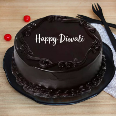 Diwali Dark Chocolate Cake