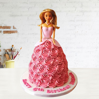 Voguish Barbie Doll Cake