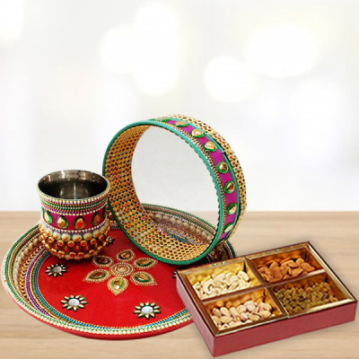 Karwa Thali with Dry Fruits