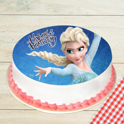 Princess Elsa Photo Cake in Pineapple 1 Kg