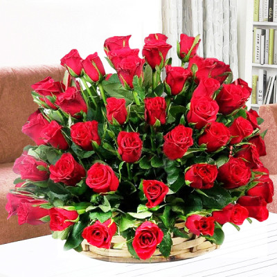 Red Roses Big Basket